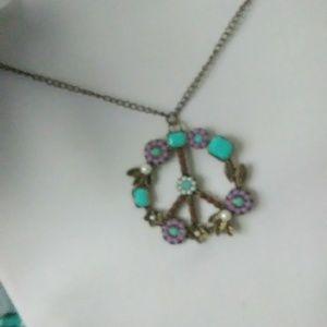 Very unique peace sign necklace